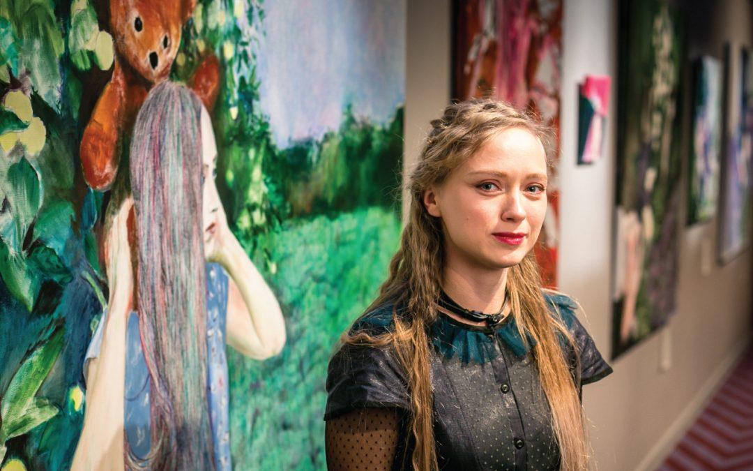 Atklāta gleznotājas Kristīnes Rublovskas personālizstāde