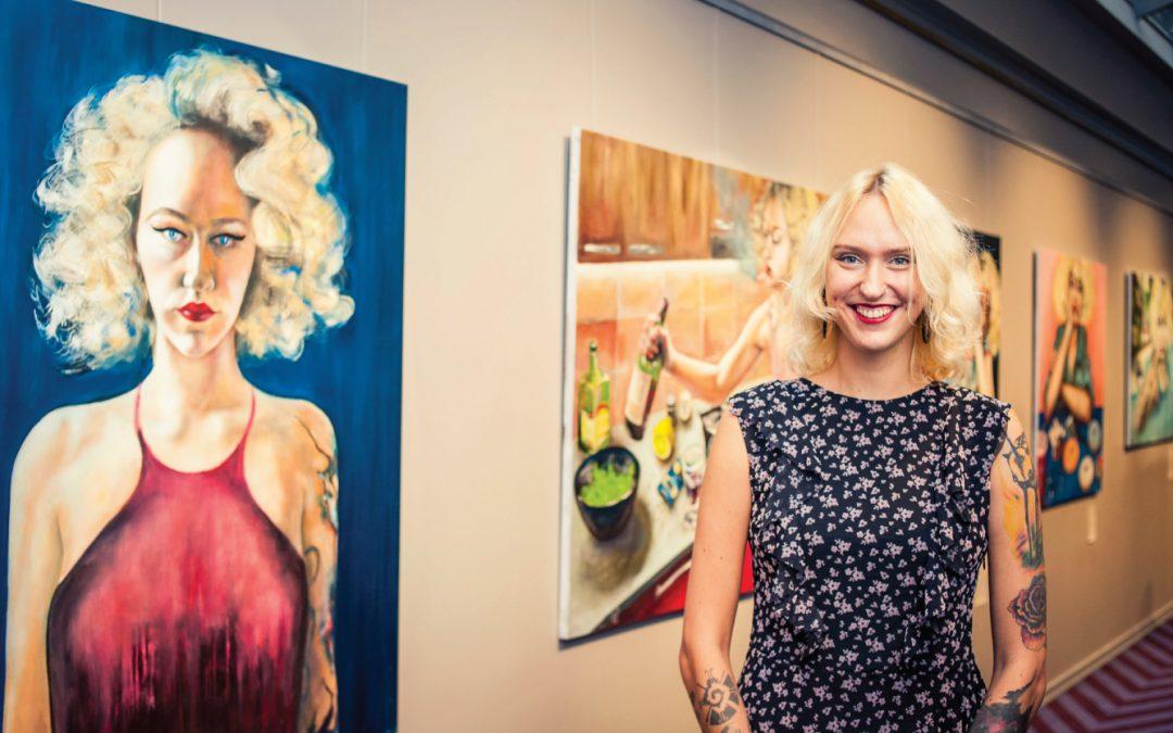 Atklāta gleznotājas Justīnes Seiles personālizstāde