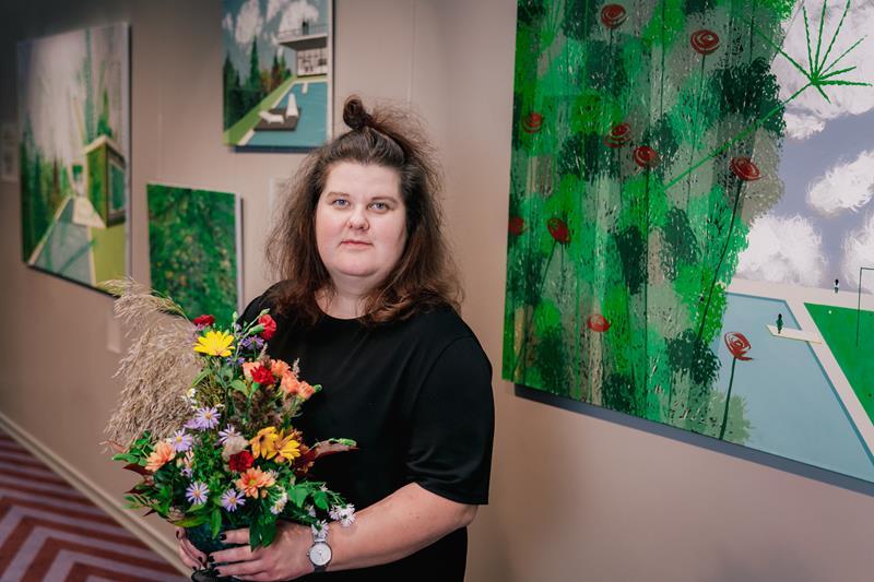 Atklāta mākslinieces Sandras Strēles personālizstāde